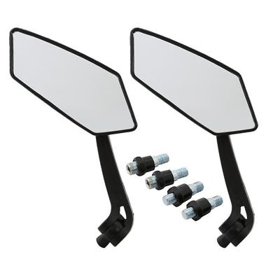 2PCS Black Motorcycle Side Rear View Mirror For Harley-Davidson FXDL FLHR  FLHTC