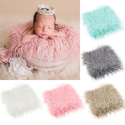 Baby Newborn Photo Shooting Photography Photo Props Blanket Rug Background