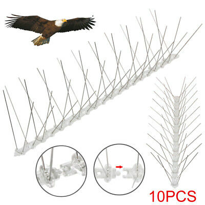 10x 50cm Bird Spikes Pigeon Spikes Wall Fence Deterrent Repeller Anti Bird Clear