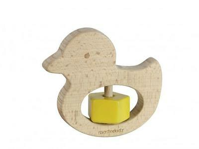 NEW Masterkidz My First Rattle Duck - Wooden Baby Toy