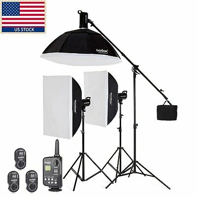 1200w 3x Godox SK400 400w Studio Strobe Flash Light  Softbox +Trigger + Softbox