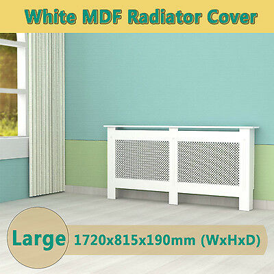 White Painted Radiator Cover Cabinet Wood MDF Traditional Modern Adjustabl Large