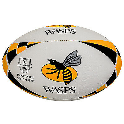 Clearance Line New Gilbert Rugby Wasps Supporter Rugby Ball Size 4