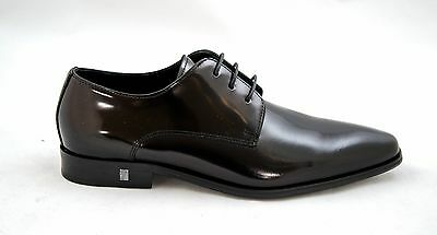Versace Collection, Men's Black Leather Lace Up, V90320, New