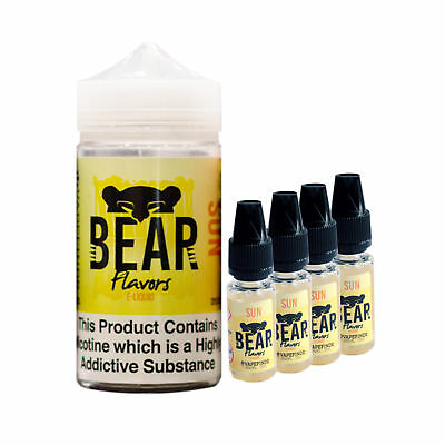 Bear - Sun TPD Premium Cloud Chasing E Liquid Juice GENUINE 4x10ml 6mg