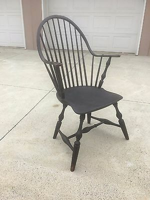 Antique New England Windsor Continuous Arm CHAIR RING AND VASE TURNINGS