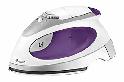 Swan Dual Voltage Steam Light Travel Iron With Pouch Stainless Steel Base Plate