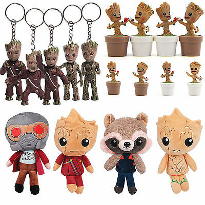 Baby Groot Guardians of the Galaxy Vol.2 Figure / Keychain / Plush Toy Doll Gift