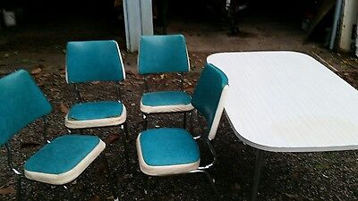 Namco 1971 vintage kitchen table and chairs blue retro set of 4