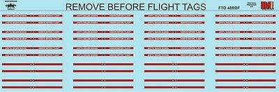 Fightertown Decals Remove Before Flight Tags 1/48 decals