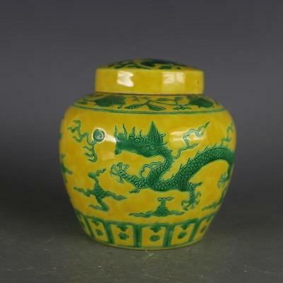 A Nice Chinese Ming Dynasty Yellow Glazed Porcelain Dragon Teapot