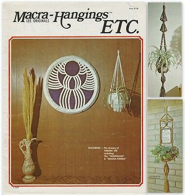 "Vintage 1975 Macrame Pattern Book ""macra-Hangings"" There Are 16 Projects"