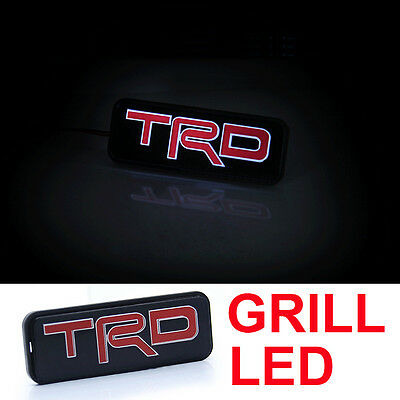 High Quality TRD LED Red Emblem Car Front Grill Badge For Camry Corolla S261
