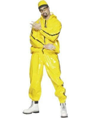 Mens Adults Yellow Rapper Suit Ali G Stag Night Fancy Dress Costume Outfit