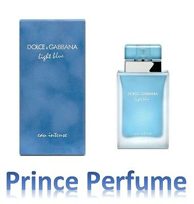 D&G DOLCE E GABBANA LIGHT BLUE EAU INTENSE POUR FEMME EDP NATURAL SPRAY - 25 ml