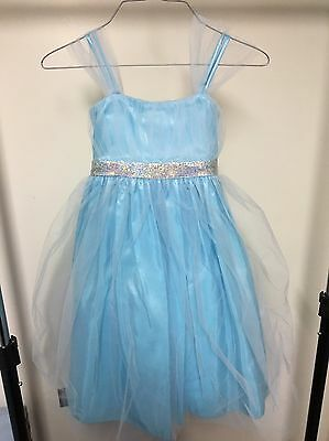 Blue Tulle Princess Diaries Dress 5-6 5 6 Flower Girl Pageant Party Fancy
