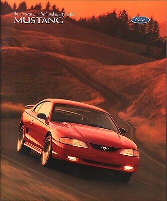 Original  1998 Ford Mustang Sales Brochure
