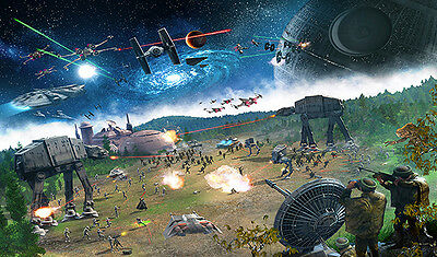 #55 Custom Star Wars Playmat AT-AT Play Mat TCG CCG Mat Large Game Mouse Pad