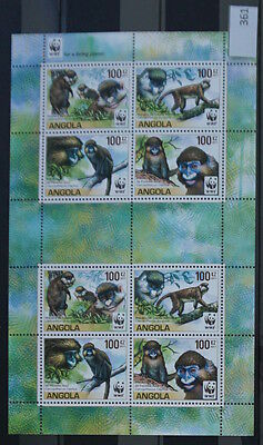 S0 0361 WWF Animals Angola MNH 2011 Monkey Macaque