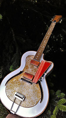 Archtop vintage hollow body steampunk guitar 1961 + gift Gibson Fender strings
