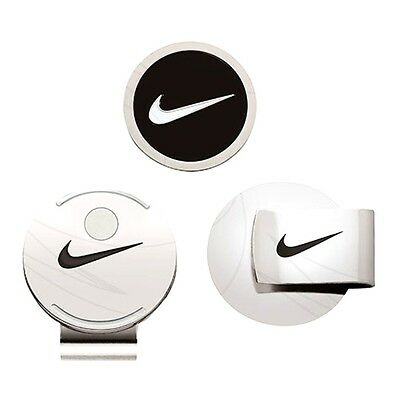 New! NIKE GOLF - Hat Clip & Ball Marker BLACK w/white swoosh