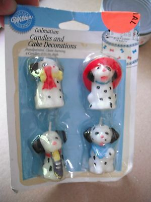 WILTON 2811-9310 Dalmatian Dog Puppy 4 Candle 1993 Cake Topper Birthday