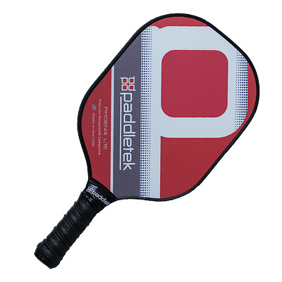 New Paddletek Phoenix LTE Polymer Pickleball Paddle 1 YR Warranty Red