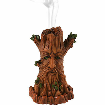 Tree Incense Cone Burner Holder Wicca Pagan Green Man Tower Gift by Lisa Parker