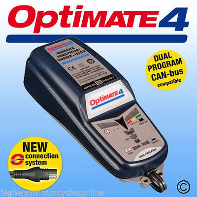 Optimate 4 Dual Motorcycle 12V Battery Charger Optimiser Sae Can Bus