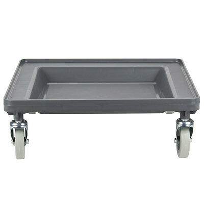 Gray Plastic Restaurant Dish Rack and Glass Rack Dolly without Handle
