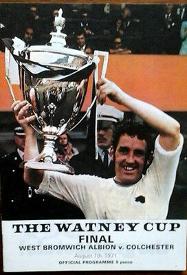 West Brom V Colchester 7/8/1971 Watney Cup Final