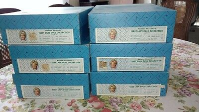 "Lot of (6 Dolls) 14"" Madame Alexander President First Ladies Series IV."