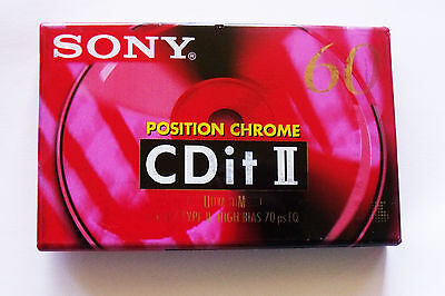 Cassette K7 audio Tape - SONY CDit II chrome 60 - ultra slim - NEUVE