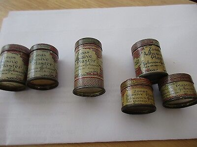 Vintage Medical First Aid Tins Zonas Adhesive Plaster mized  Sizes Johnson six 6