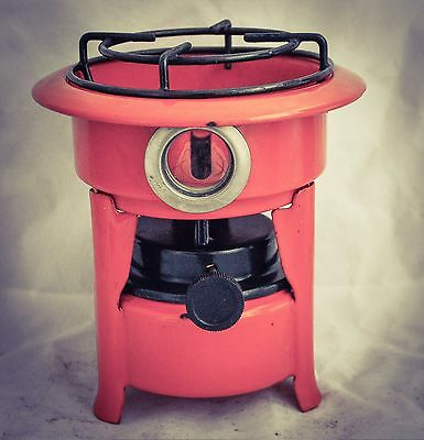 Dutch Enamelware Stove Kerosene fuel burner wick Petrol Enamel Orange