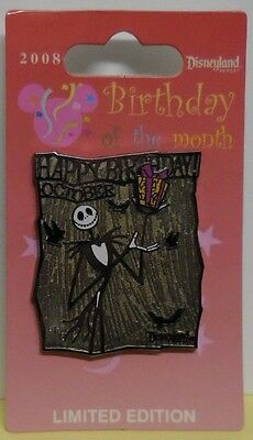 Disney Pin DLR Birthday of the Month 2008 October Jack Skellington Pin LE1000