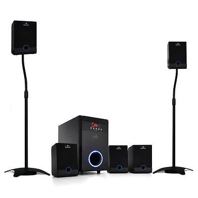 Auna 95 W Rms Active 5.1 Surround Sound Led Home Cinema Speaker System Stand New