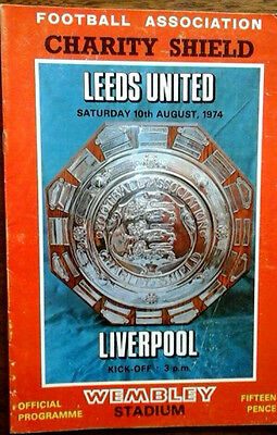 Leeds V Liverpool 10/8/1974 Charity Shield