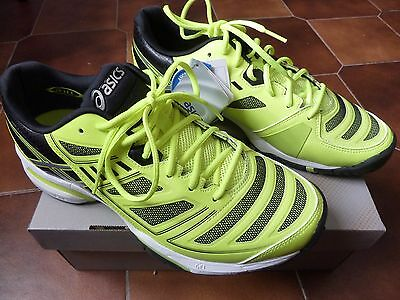 OCCASIONE Asics Gel Solution Lyte 2 scarpe tennis gialle  42 EU  8,5 US  7,5 UK