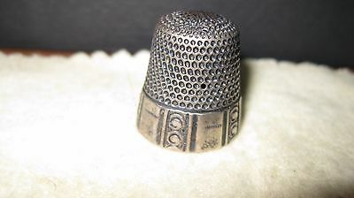 ANTIQUE WAITE, THRESHER CO. STERLING SILVER THIMBLE Sz 12, lot 875