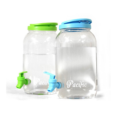 3l Drinks Dispenser Large Plastic Bottle With Tap Party Jug For Cool/Chilled