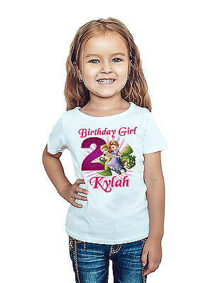 Sofia the First Shirt Custom Birthday Shirt  Personalized Name and Age