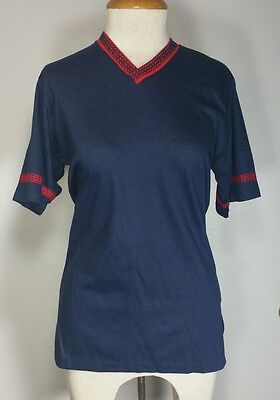 Vintage Expressions By Campus Women's Medium Top Navy Red Made In USA Retro