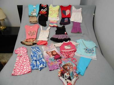 23 Pc Mixed Lot Girls Size 4-4T Used Summer Clothing (10 are nwt)