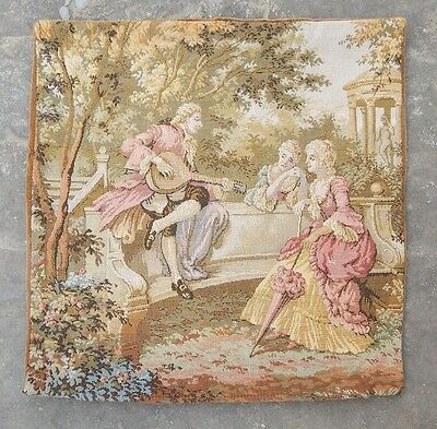 Vintage French Beautiful Party and Singing Scene Tapestry/Cushion 45x45cm (A909)