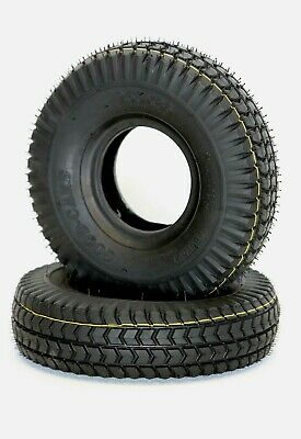 Pair of 3.00-4 (260x85) Black Block Tread Mobility Scooter Tyres