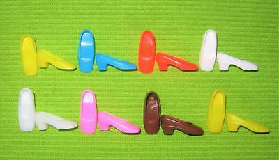Vintage Barbie Francie For Mod Clothes Hard Square Toe Toed Heels Shoes Lot!