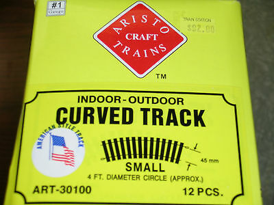 Aristo Craft Trains, Indoor-Outdoor Curved Track (12) #1 Gauge, In Box