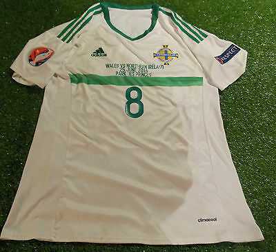 Northern Ireland v Wales football euro 2016 finals large mans davis no8 away top