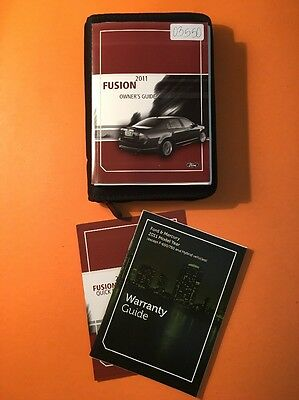 2011 Ford Fusion Owners Manual [03550] 3 Book Set with Case